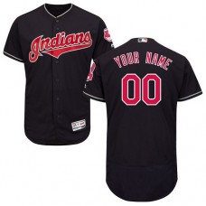 Custom Cleveland Indians Navy Blue Flexbase Authentic Collection Jersey