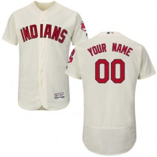 Custom Cleveland Indians Cream Flexbase Authentic Collection Jersey