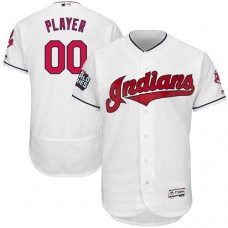 Custom Cleveland Indians White 2016 World Series Bound Flexbase Authentic Collection Jersey