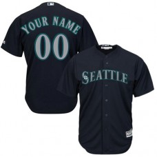 Custom Seattle Mariners Authentic Navy Blue Alternate 2 Cool Base Jersey