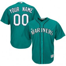 Youth Custom Seattle Mariners Authentic Teal Green Alternate Cool Base Jersey