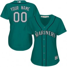 Women's Custom Seattle Mariners Authentic Teal Green Alternate Cool Base Jersey
