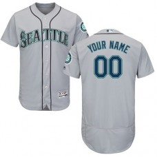 Custom Seattle Mariners Grey Flexbase Authentic Collection Jersey