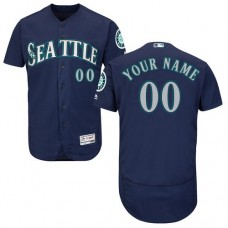 Custom Seattle Mariners Navy Blue Flexbase Authentic Collection Jersey