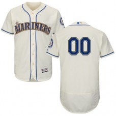 Custom Seattle Mariners Cream Flexbase Authentic Collection Jersey