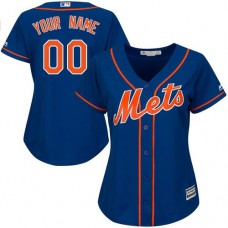 Women's Custom New York Mets Authentic Royal Blue Alternate Home Cool Base Jersey