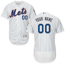Custom New York Mets White Flexbase Authentic Collection Jersey