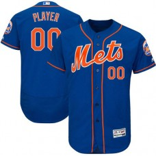 Custom New York Mets Royal Blue Flexbase Authentic Collection Jersey