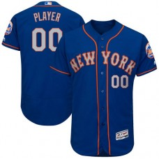 Custom New York Mets Royal/Gray Flexbase Authentic Collection Jersey