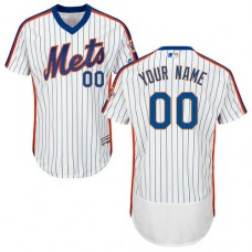 Custom New York Mets White/Royal Flexbase Authentic Collection Jersey