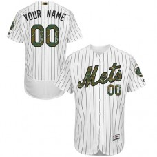 Custom New York Mets Authentic White 2016 Memorial Day Fashion Flex Base Jersey