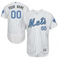 Custom New York Mets Authentic White 2016 Father's Day Fashion Flex Base Jersey