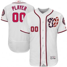 Custom Washington Nationals Authentic White Home Cool Base Jersey