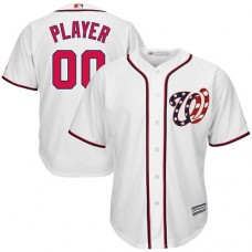 Custom Washington Nationals Replica White Home Cool Base Jersey