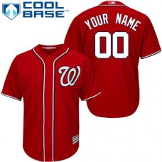 Custom Washington Nationals Replica Red Alternate 1 Cool Base Jersey