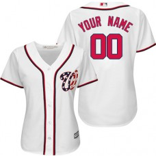 Women's Custom Washington Nationals Authentic White Home Cool Base Jersey