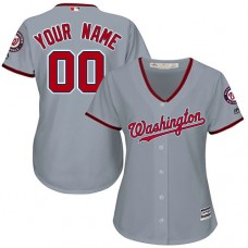 Women's Custom Washington Nationals Authentic Grey Road Cool Base Jersey