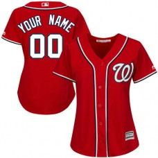 Women's Custom Washington Nationals Replica Red Alternate 1 Cool Base Jersey