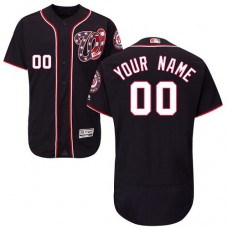 Custom Washington Nationals Navy Blue Flexbase Authentic Collection Jersey