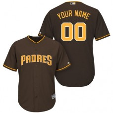 Youth Custom San Diego Padres Replica Brown Alternate Cool Base Jersey