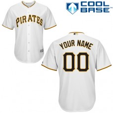 Custom Pittsburgh Pirates Replica White Home Cool Base Jersey