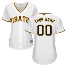Women's Custom Pittsburgh Pirates Authentic White Home Cool Base Jersey