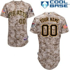 Custom Pittsburgh Pirates Authentic Camo Alternate Cool Base Jersey