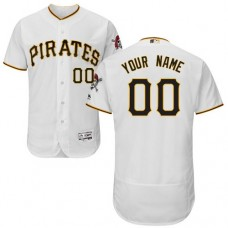 Custom Pittsburgh Pirates White Flexbase Authentic Collection Jersey