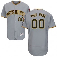 Custom Pittsburgh Pirates Grey Flexbase Authentic Collection Jersey