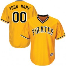 Custom Pittsburgh Pirates Authentic Gold Alternate Cool Base Jersey