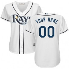 Women's Custom Tampa Bay Rays Authentic White Home Cool Base Jersey