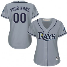 Women's Custom Tampa Bay Rays Authentic Grey Road Cool Base Jersey