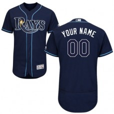 Custom Tampa Bay Rays Navy Blue Flexbase Authentic Collection Jersey