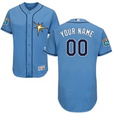 Custom Tampa Bay Rays Light Blue Flexbase Authentic Collection Jersey