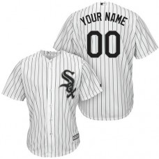 Custom Chicago White Sox Authentic White Home Cool Base Jersey