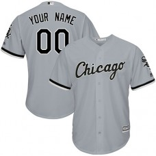Custom Chicago White Sox Authentic Grey Road Cool Base Jersey