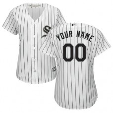 Women's Custom Chicago White Sox Authentic White Home Cool Base Jersey