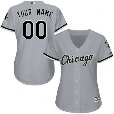Women's Custom Chicago White Sox Authentic Grey Road Cool Base Jersey