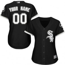 Women's Custom Chicago White Sox Authentic Black Alternate Home Cool Base Jersey