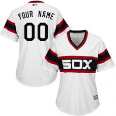 Women's Custom Chicago White Sox Authentic White 2013 Alternate Home Cool Base Jersey