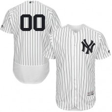 Custom New York Yankees White/Navy Flexbase Authentic Collection Jersey