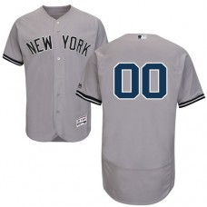 Custom New York Yankees Grey Flexbase Authentic Collection Jersey