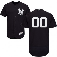 Custom New York Yankees Navy Blue Flexbase Authentic Collection Jersey