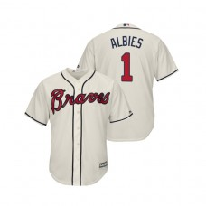 Atlanta Braves Cream #1 2019 Cool Base Ozzie Albies Alternate Jersey
