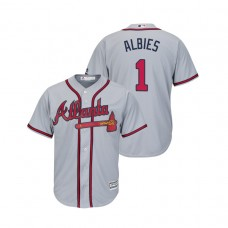 Atlanta Braves Gray #1 2019 Cool Base Ozzie Albies Road Jersey