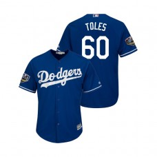 Los Angeles Dodgers Royal #60 Andrew Toles Cool Base Jersey 2018 World Series