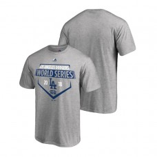 Los Angeles Dodgers Steamer Heather Gray Bound Majestic T-Shirt 2018 World Series