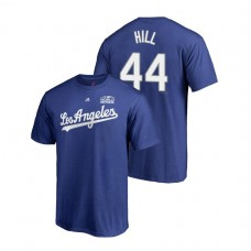 Los Angeles Dodgers Royal #44 Rich Hill Majestic T-Shirt 2018 World Series