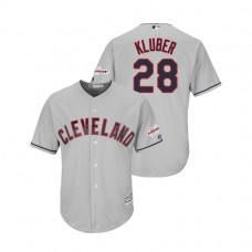 Cleveland Indians 2019 All-Star Game Patch Gray #28 Corey Kluber Cool Base Jersey