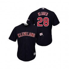 Cleveland Indians 2019 All-Star Game Patch Navy #28 Corey Kluber Cool Base Jersey